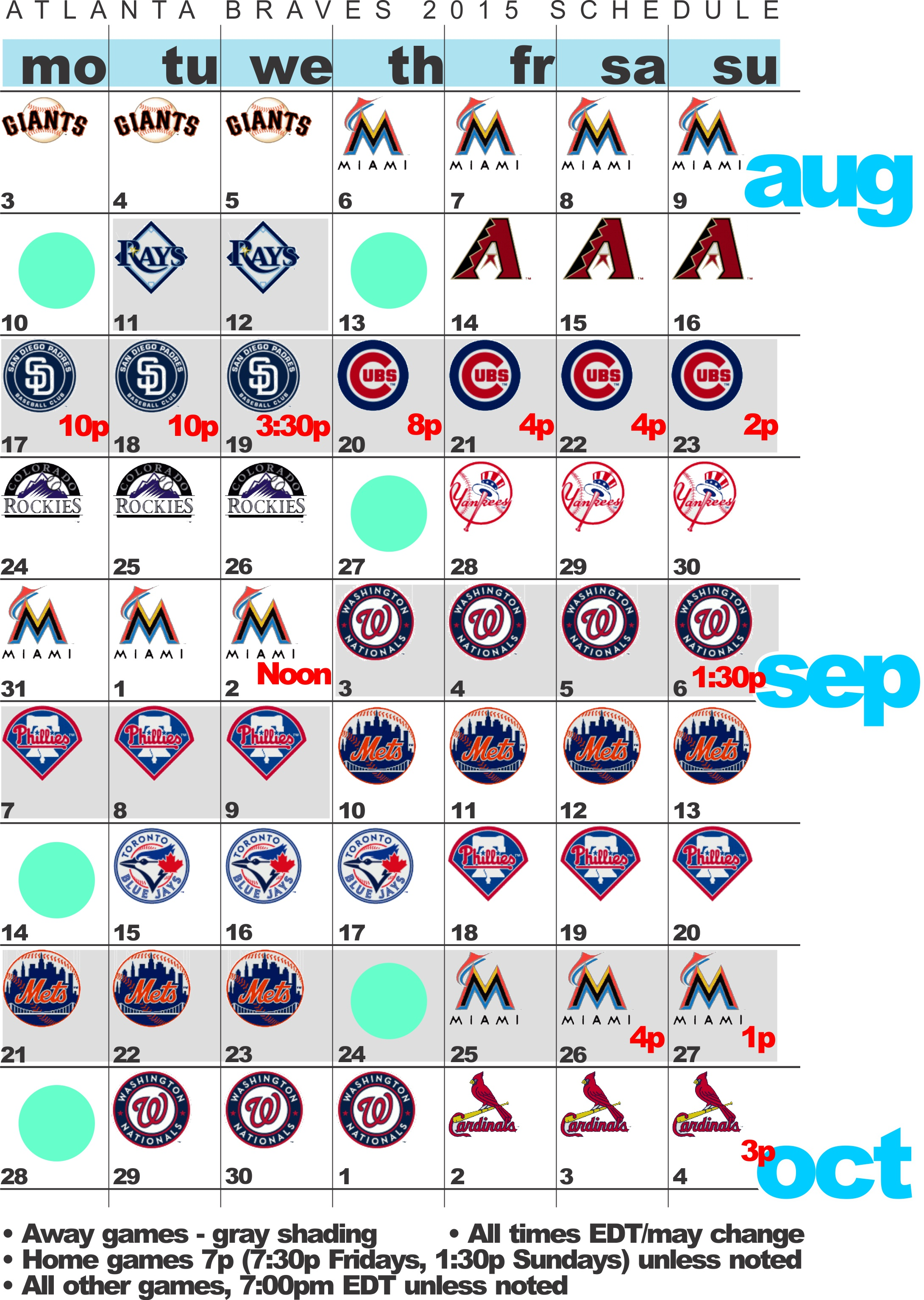 It is a graphic of Genius Braves Printable Schedule