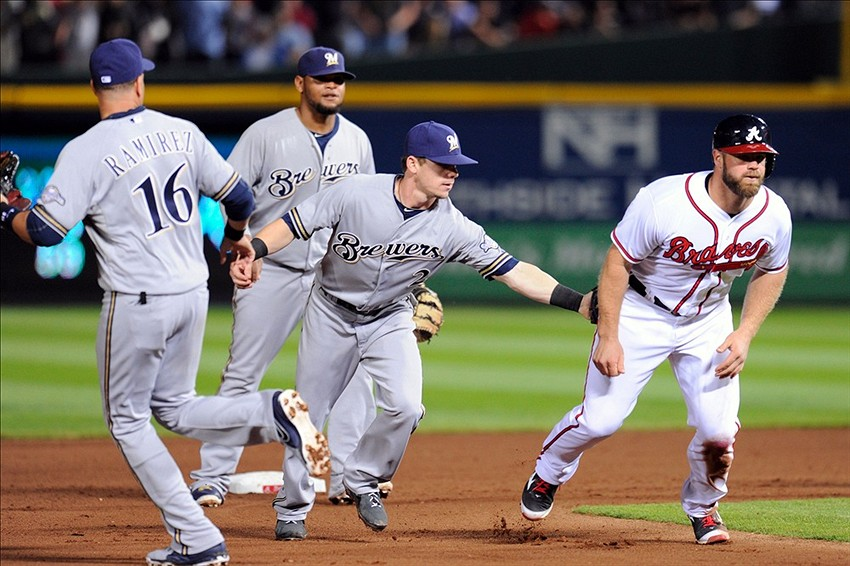 Image result for brewers braves