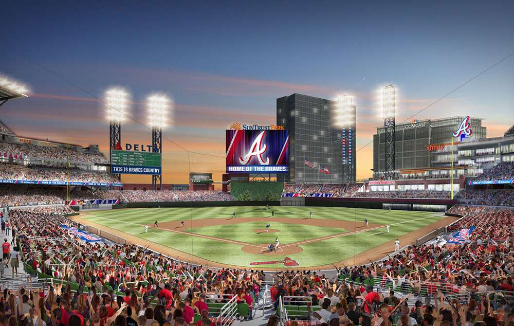 Atlanta Braves Reveal SunTrust Park Dimensions New Wall